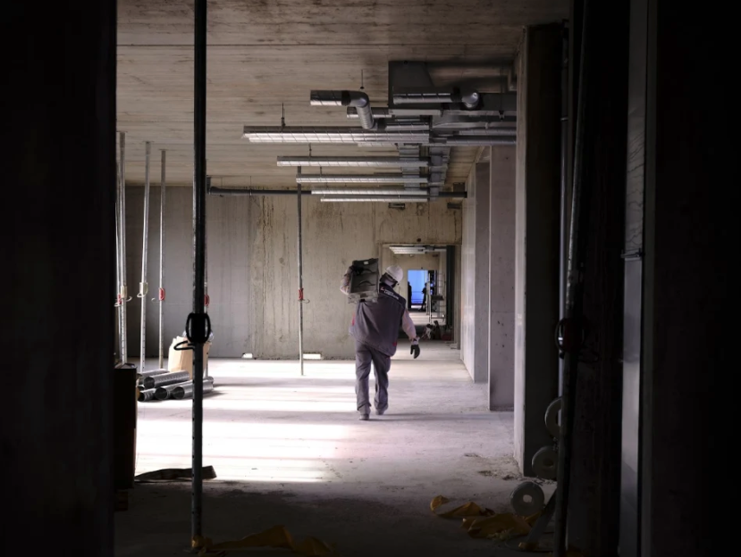 Installation sur un chantier